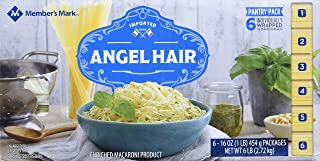 member mark Member's Mark Angel Hair Pasta Pantry Pack (1 lb., 6 pk.) Imported from Italy, 2.27 Kilogram