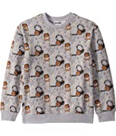 Moschino Kids - Sweatshirt w/ All Over Music Toy Bear Print (Big Kids)