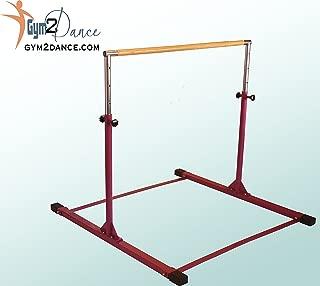 Gymnastics Bar Adjustable 3' to 5' Model DX Barney Purple, 1.5