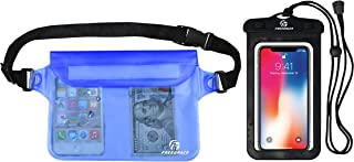 Freegrace Waterproof Pouches with Waist Strap / Pouch Case Bundle Set- Keep Your Phone & Valuables Dry and Safe - Waterproof Dry Bags for Boating Swimming Snorkeling Kayaking Beach Water Parks Pool