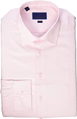 Trim Fit Micro Basketweave Dress Shirt
