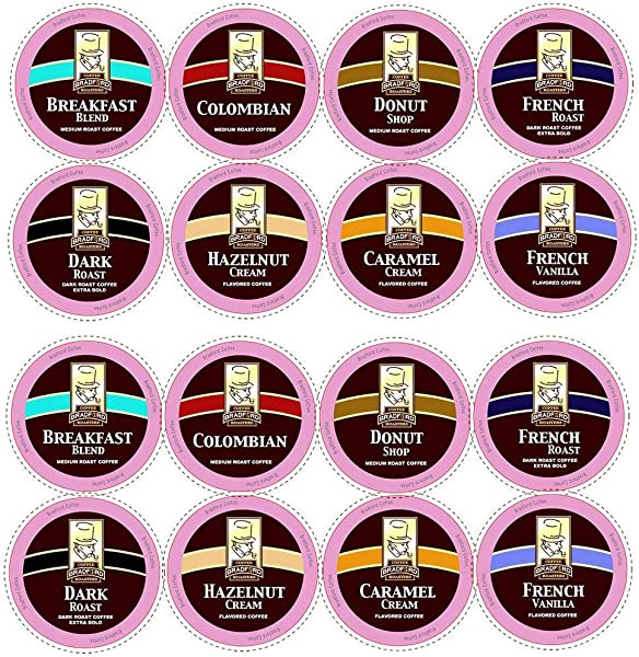 100ct Variety Pack For Keurig K Cups 8 Assorted Single Cup Sampler 20 More Coffee Per Cup By Bradford Coffee