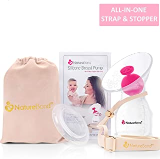 NatureBond Silicone Breastfeeding Manual Breast Pump Milk Saver Suction. All-in-1 Pump..