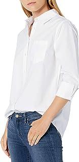 Amazon Essentials Women's Classic-Fit 3/4 Sleeve Poplin Shirt