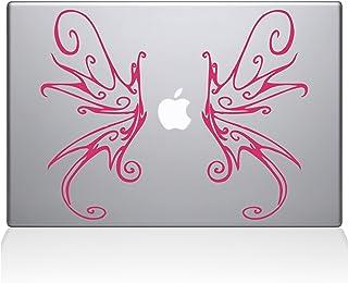 "The Decal Guru Swirly Wings Macbook Decal Vinyl Sticker  - 15"" Macbook Pro (2016 & newer) - Pink (1188-MAC-15X-BG)"