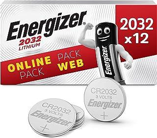 Energizer Pilas de Botón de Litio CR2032, Paquete de 12 Unidades