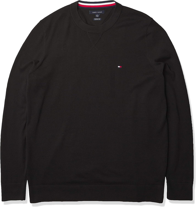 Tommy Hilfiger Men's Big and Tall Sweater Signature Solid Crewneck