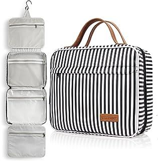 Toiletry Bag, WDLHQC Travel Hanging Makeup Bag ,Waterproof Large Cosmetic Make up Organizer for Travel Accessories Kit,Bat...
