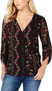 GUESS Women's Long Jewel Shirred Sleeve Top