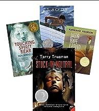 Classroom Library Award Winning Books: The Marvelous Misadventure of Sebastian; Stuck in Neutral; the Cay; Ice Drift; Sail...