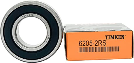 Deep Groove Ball Bearings. Pre-Lubricated and Stable Performance and Cost Effective TIMKEN 6303-2RS 4 Pcs Double Rubber Seal Bearings 17x47x14mm