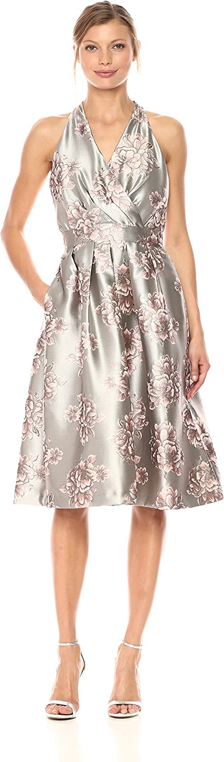Chetta B Womens Floral Brocade Party Dress Dress