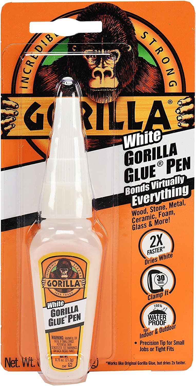 Gorilla White Glue Pen Max 81% OFF Waterproof Tip Bott Max 54% OFF .75 Precision ounce