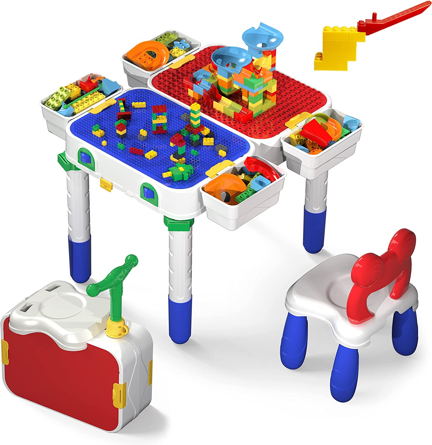 PicassoTiles Kids Play Many popular brands Table Chair with Set security 331pcs Bu Storage