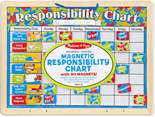 """Melissa & Doug Magnetic Responsibility Chart (Developmental Toy, Encourages Good Behavior, 90 Magnets, 15.6"""" H x 11.7"""" W x 1.2"""" L, Great Gift for Girls and Boys - Best for 3, 4, 5 Year Olds and Up)"""