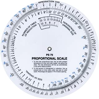 """Darice Westcott 6"""" Proportional Measuring Scale, White, PS-79"""