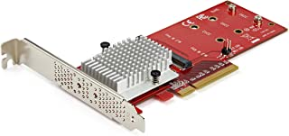 StarTech.com Dual M.2 PCIe SSD-adapterkaart - x8/x16 Dual NVMe of AHCI M.2 SSD naar PCI Express 3.0 - M.2 NGFF PCIe (M-Ke...