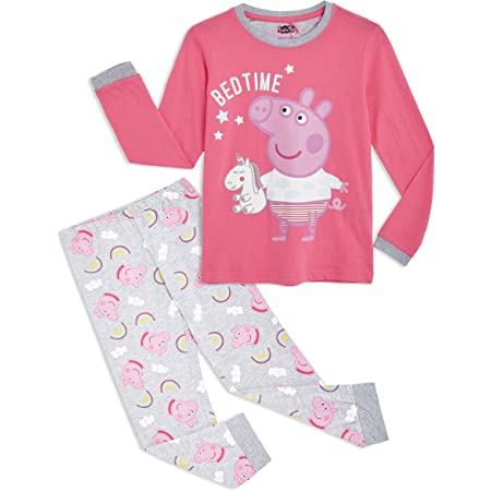 Peppa Wutz Pig Schlafanzug Fleece Pyjama für Kinder