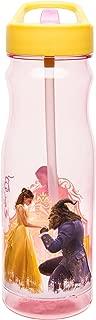 Zak Designs BUBA-P280 Disney Live Action Beauty And The Beast Tritan Straw Bottle, 25 Ounce, Multicolor