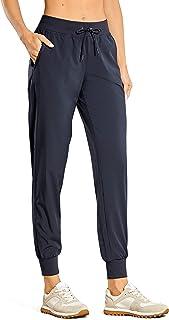 CRZ YOGA Calça de corrida leve feminina com bolsos e cordão para treino Calça de corrida com cintura elástica