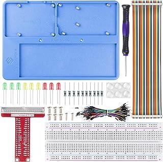 SunFounder Raspberry Pi RAB Holder Breadboard Kit with 830 Points solderless Circuit Board Raspberry Pi Holder for Arduino...