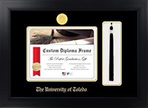 Celebration Frames The University of Toledo 8 x 10 Matte Black Finish Infinity Diploma with Tassel Box Frame