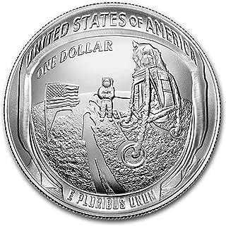 2019 P Apollo 11 50th Anniversary $1 Silver BU (Box & COA) Silver Brilliant Uncirculated
