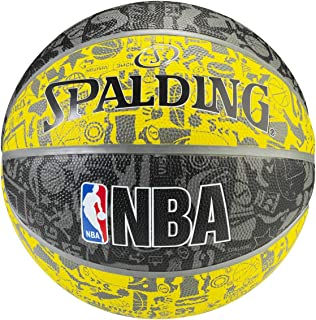 27323abf6 Bola de Basquete Spalding NBA Preta e Amarela