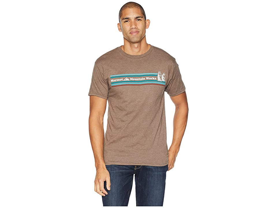 Marmot MMW Short Sleeve T-Shirt (Brown Heather) Men