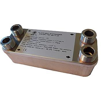 NORDIC TEC Ba-12-30 Scambiatore di calore in acciaio INOX 30 pannelli 65 kW 3//4