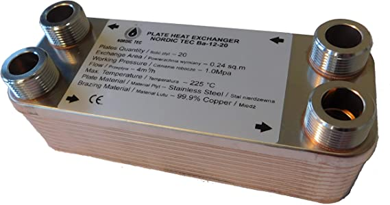 """SCAMBIATORE di calore a piastre NORDIC TEC 220-660kW 5//4/"""" 1 1//4 32 ISOLAMENTO"""
