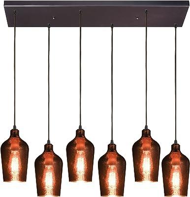Elk Lighting 10571/6RC Pendant Light, Oil Rubbed Bronze