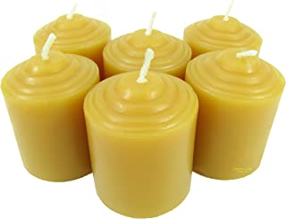 Beeswax Candle Works - 10 Hour Votives 12-Pack - 100% USA Beeswax