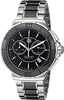 Women's 'Formula 1' Stainless Steel Black Ceramic Chronograph Watch CAH1210.BA0862