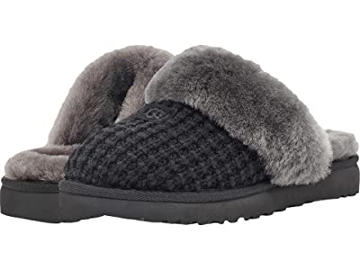 UGG Cozy Knit Slipper (New Black) Women