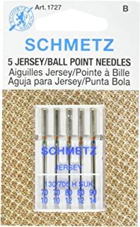 25 Schmetz Assorted Jersey Ball Point Sewing Machine Needles 130/705 H SUK Sizes 70/10, 80/12, 90/14