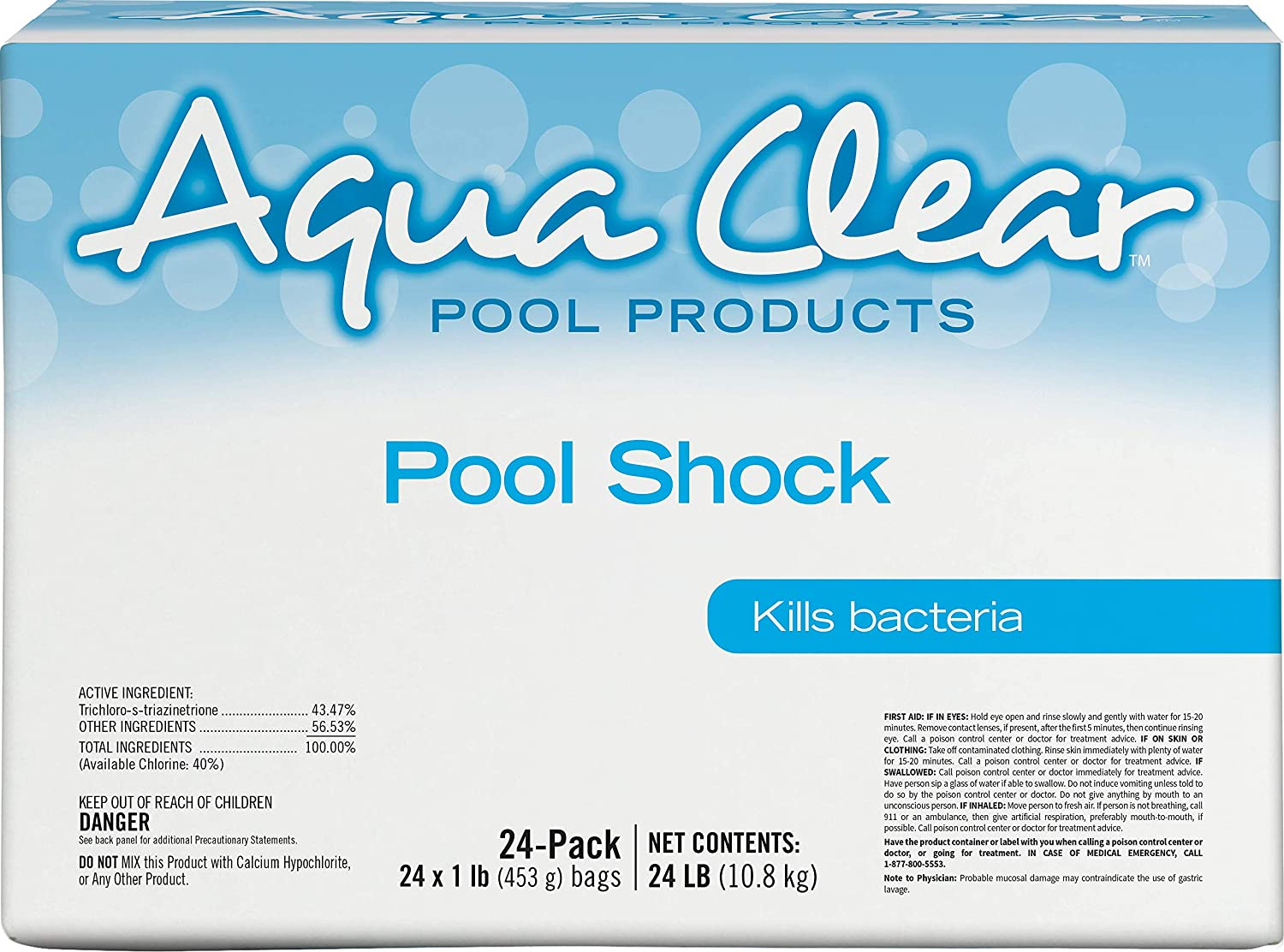 Aqua Clear 50024ACL Products Pool 24 Max 71% OFF 1-lb Product Bags Shock