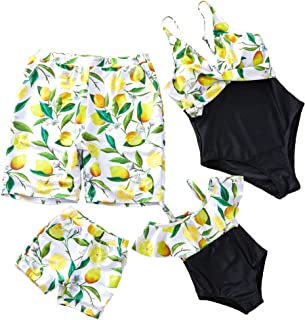 Family Matching Swimsuit One Piece V Neck Mommy and Me Bathing Suit 2019 Newest Beach Wear