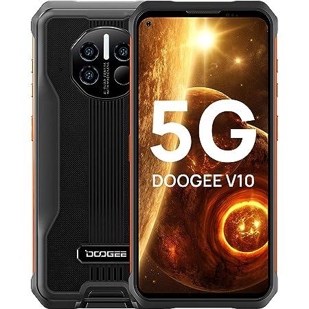 "DOOGEE V10 [2021] Movil Resistente 5G, 8GB+128GB, 8500mAh 33W Cargar, Android 11 Teléfono Móvil, Dimensity700, 48MP Triple AI Cámara, IP68/IP69K Movil Todoterreno con Termómetro Infrarrojo, 6.39"", NFC"