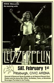 Innerwallz Led Zeppelin Page Plant 1975 Civic Arena Pittsburgh LIVE Retro Art Print — Poster Size — Print of Retro Concert Poster — Features Jimmy Page, Robert Plant, John Bonham and John Paul Jones