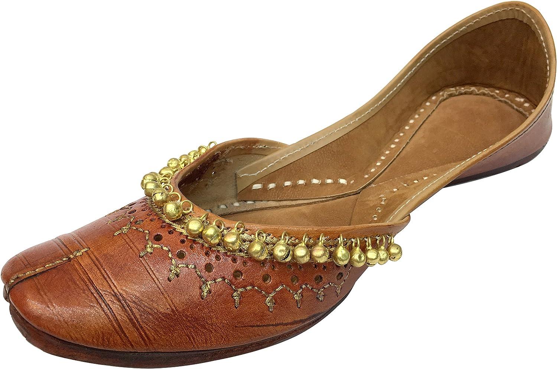Step n Style Women Ghungroo Khussa shoes Punjabi Mojari Kolhapuri Chappal Beaded