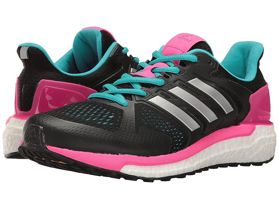 adidas Running Supernova Stability (Black/Silver/Shock Pink) Women