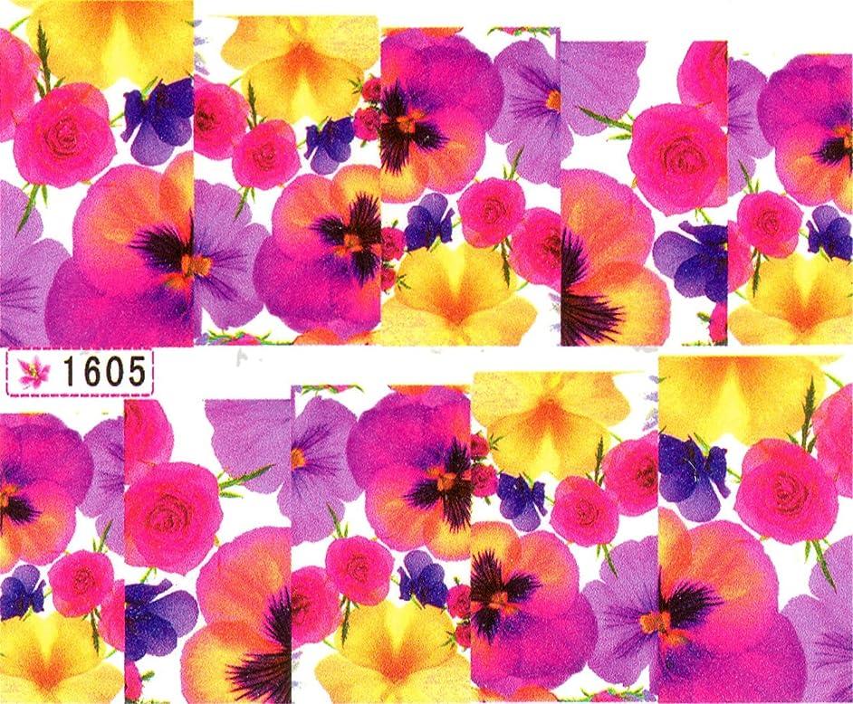 星不適スポーツウォーターネイルシール 花柄 選べる17種類 極薄?重ね貼りOK (W16)