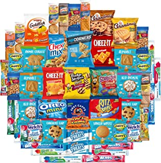 Snacks Care Package Mix Variety Pack of Chips, Cookies, Candy, Care Package to Friends and Family (50 Count)