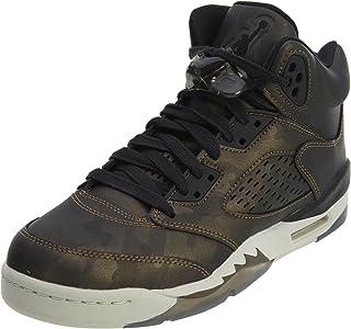 Nike Air 5 Retro PREM HC Big Kid's Basketball Shoes Black/Light Bone, 9.5