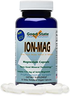 Good State| ION-MAG | Ionic Magnesium | Nano Sized Mineral Technology | Supports Healthy Breathing & Cardiovascular Health | 115 mg per Serving | 60 Capsules