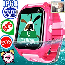 Smart Watch, Smartwatch for kids, Smart Watches Touchscreen with Camera GPS Tracker Digital Watch Phone with SIM Card Slot Two Way Chat Watch Boys Girls Waterproof Activiity Tracking Toys Xmas Gifts