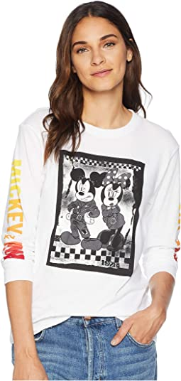 Mickey's 90th Punk Mickey Long Sleeve Boyfriend Tee