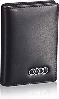 Audi Business Card Holder with Large Compartment - Full Grain Leather