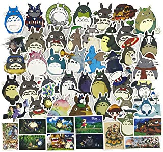 Tonari no Totoro Laptop Stickers 50Pcs Pack, Anime Water Bottle Travel Case Computer Wall Skateboard Motorcycle Phone Bicycle Luggage Guitar Bike Stickers Decal for Kids and Teen